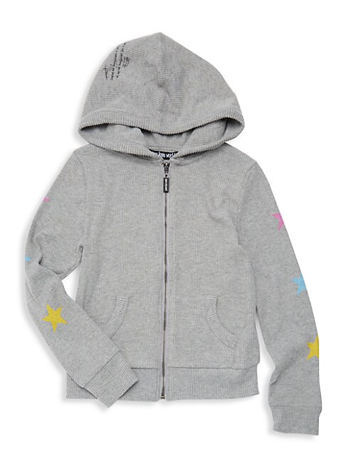 PEACE LOVE WORLD Girl'S Ribbed Graphic Hoodie