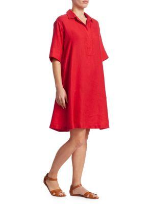 Loro Piana Short Sleeve Linen Shirtdress