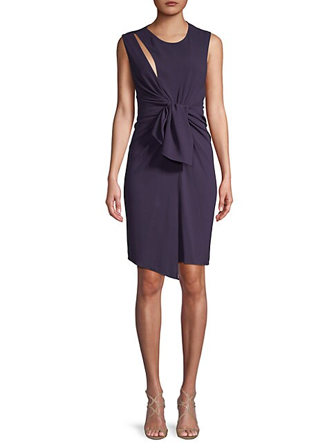 THE KOOPLES | Tie-Accented Sheath Dress | Goxip