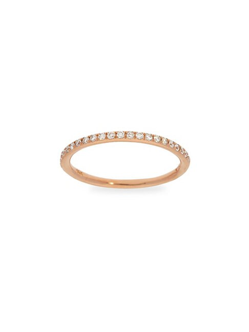 Diamond Trend 14K Rose Gold Stackable Ring