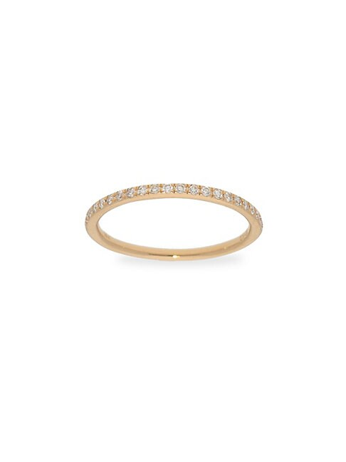 Diamond 14k Yellow Gold Stackable Ring