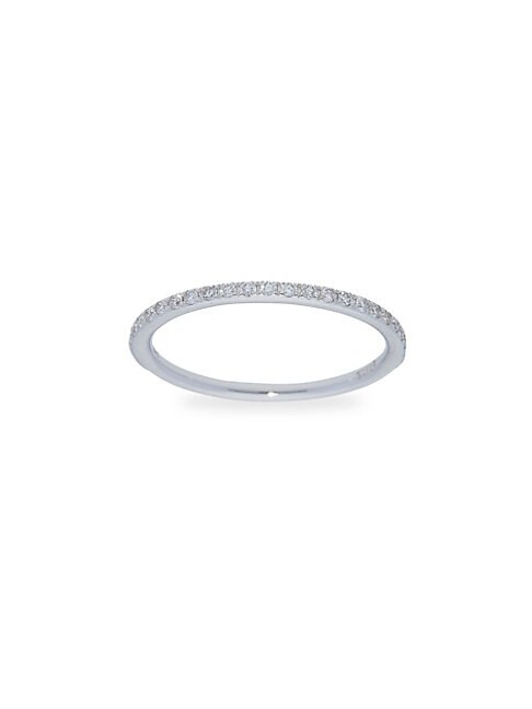 Diamond 14k White Gold Stackable Ring