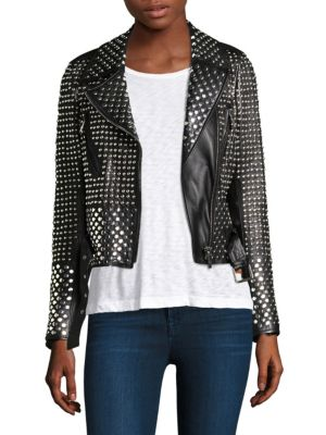 Nour Hammour Vosges Studded Perfecto Leather Jacket