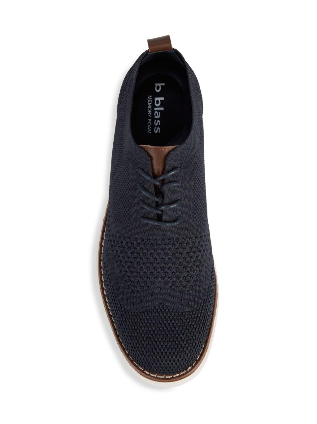 Bill Blass Knit Plain-Toe Balmoral Shoes