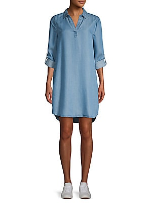 6aede38dfe Beach Lunch Lounge - Belted Long-Sleeve Shift Dress - saksoff5th.com