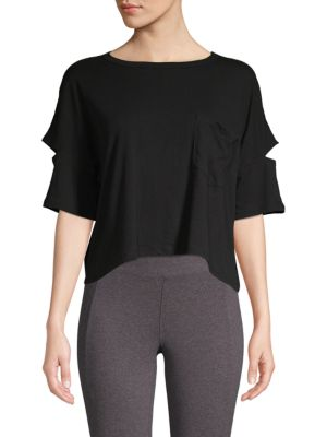 Betsey Johnson Cutout Cropped Top