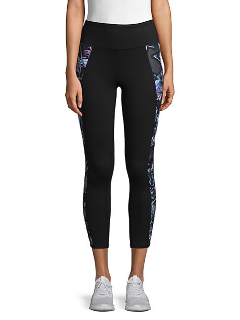 BETSEY JOHNSON   Floral-Accented Cropped Leggings   Goxip