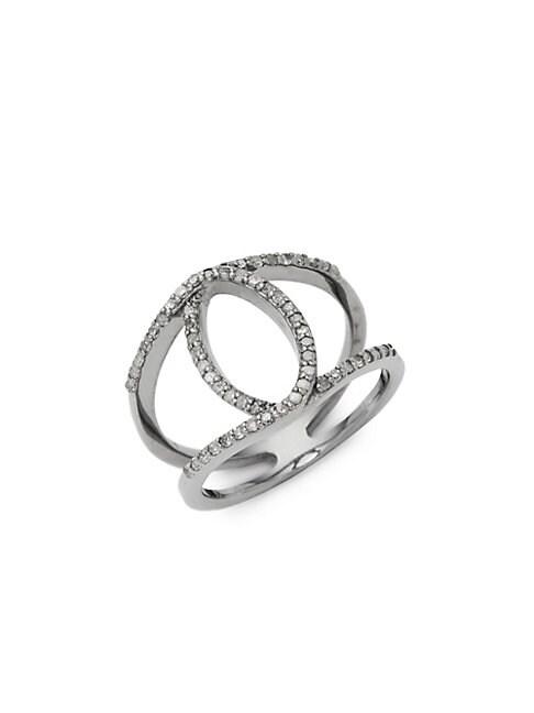 ADORNIA FINE JEWELRY | Remi Diamond Cutout Ring | Goxip
