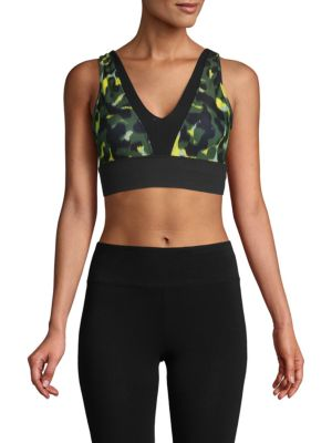 Betsey Johnson Camouflage Sports Bra