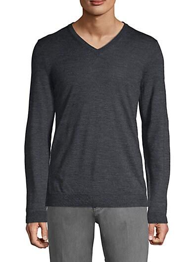 ec722177f Boss Hugo Boss Slim-Fit Heathered Wool Sweater ...