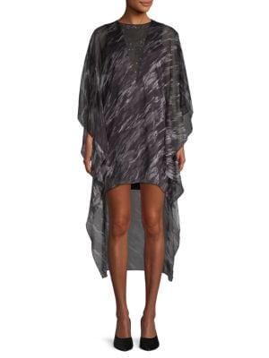 Halston Heritage Printed High-Low Shift Dress