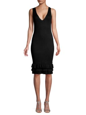 John & Jenn Louis Ruffled Sheath Dress