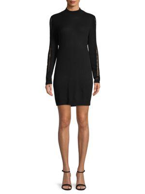 Halston Heritage Open-Back Cashmere Sweater Dress