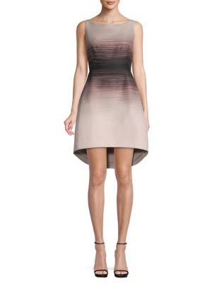 Halston Heritage Ombré Fit-&-Flare Dress