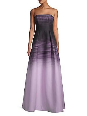 1dfc3e11387 Halston Heritage - Strapless Notch Neck Printed Dress - saksoff5th.com