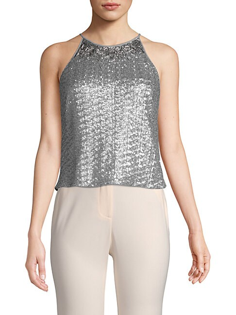 Sequined Roundneck Top