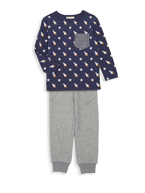 Little Boys Printed Pajama Top  Pants Set
