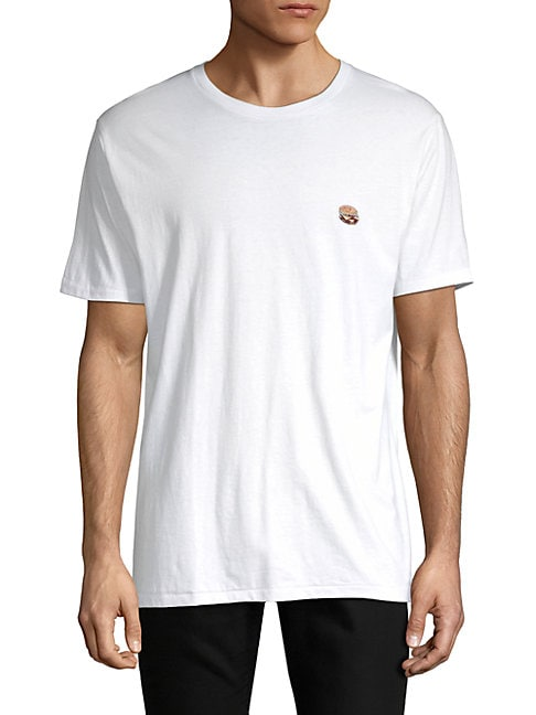 Barney Cools Burger Embroidered Cotton Tee