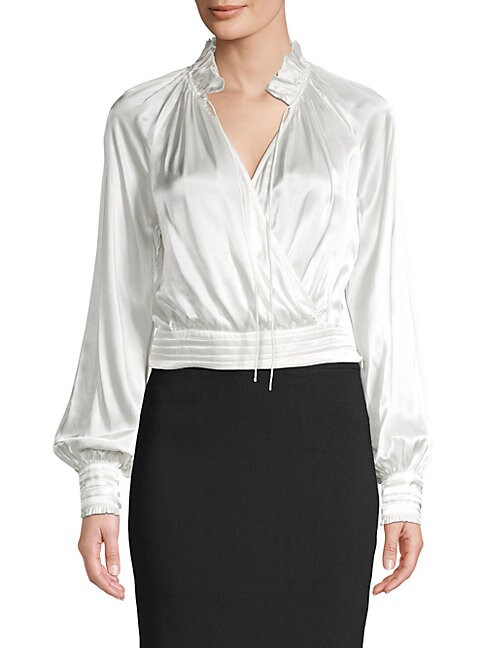 Satin Surplice Blouse