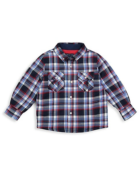 ANDY & EVAN Little Boy'S Quilted Plaid Button-Down Shirt