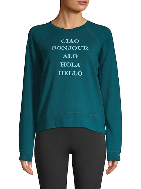 Circle Hem Graphic Sweatshirt