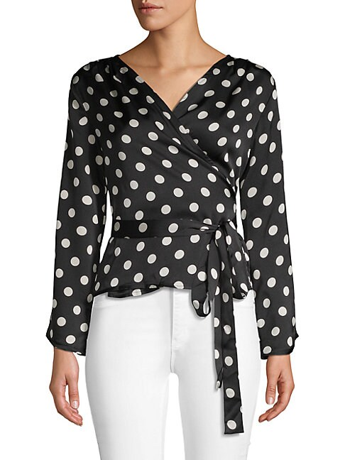 Ruth Polka Dot Wrap Blouse