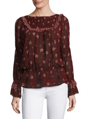 Joie Adrielle Floral Silk Top