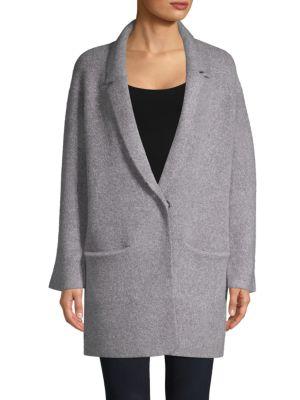 JOHN + JENN Oversize Sweater Coat in Greystone