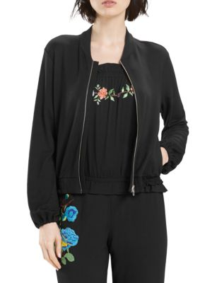 Josie Embroidered Bomber Jacket