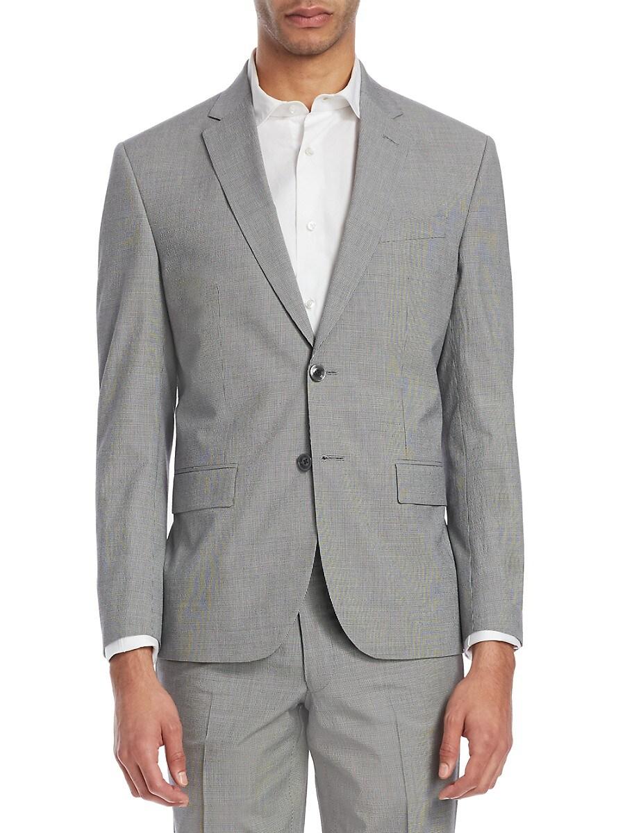 Men's Modern Micro Check Seersucker Jacket