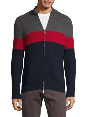 Eleventy Cottons Striped Crewneck Sweater