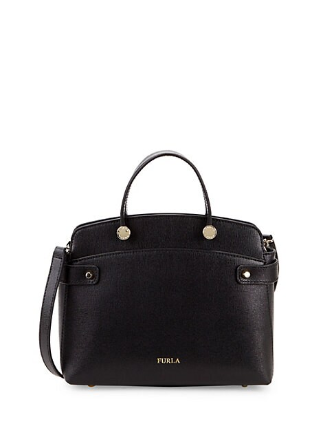 Rounded Edge Leather Handbag