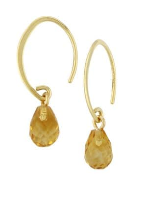 Saks Fifth Avenue 14k Yellow Gold Citrine Drop Earrings