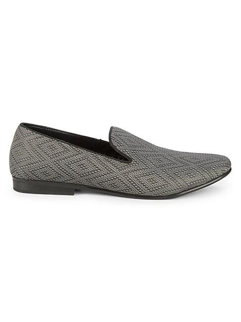 Diamond Chevron Print Loafers
