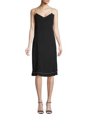 Bassike V-Neck Slip Dress