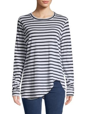 Bassike Striped Cotton Tee