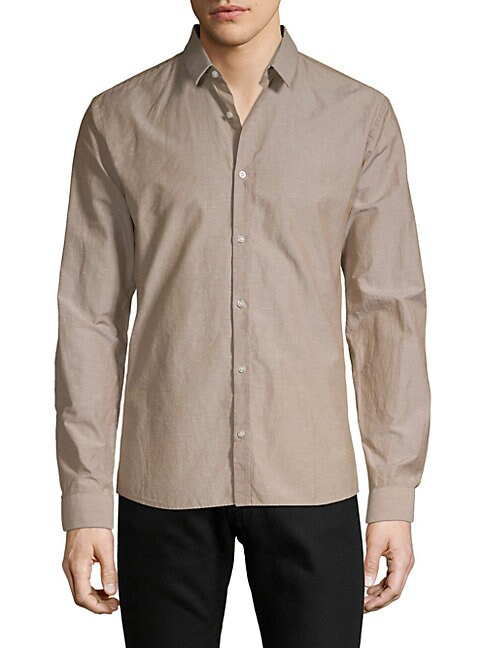 HUGO HUGO BOSS Ero3 Extra Slim-Fit Shirt in Beige