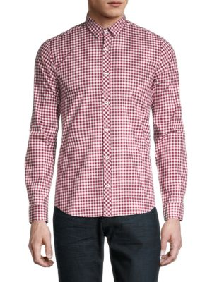 Jared Lang Plaid Button-Down Shirt