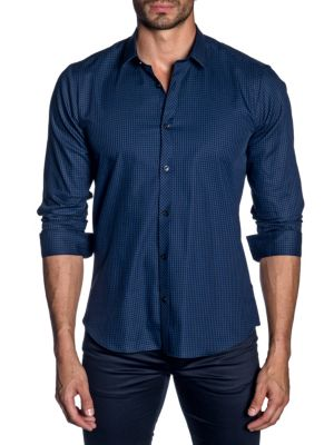 Jared Lang Woven Button-Down Shirt