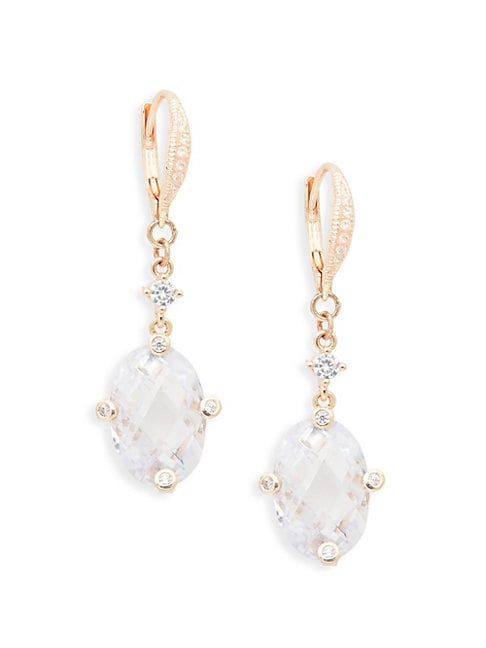 Crystal Hoop Drop Earrings