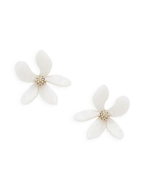 AVA & AIDEN | Crystal Twisted Flower Earrings | Goxip