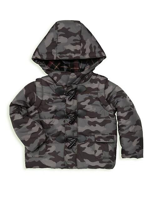 ANDY & EVAN Little Boy'S Camo Convertible Puffer Jacket