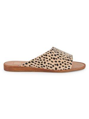 Dolce Vita Sandals Peigi Leopard Print Calf-Hair Sandals