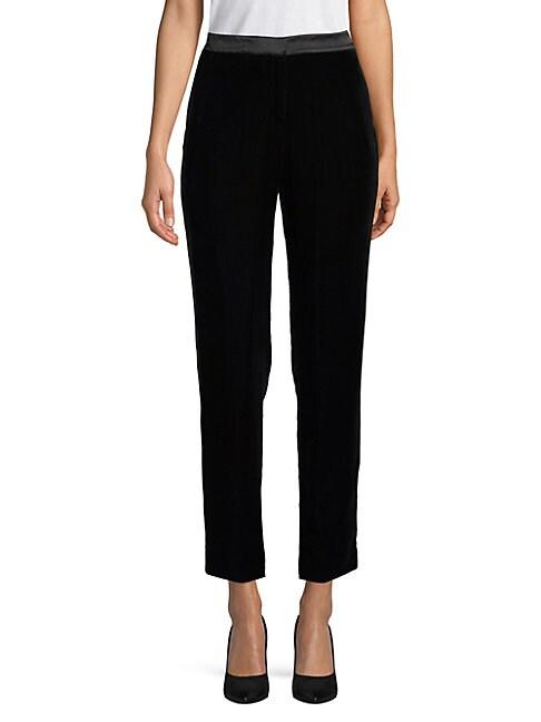 OSCAR DE LA RENTA | Classic Textured Pants | Goxip