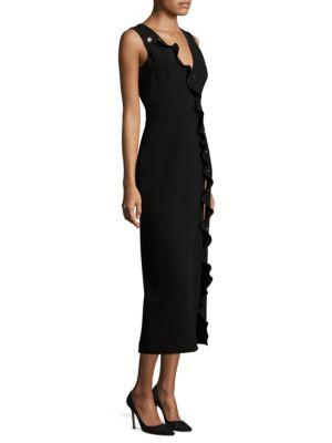 Saloni Marley Stretch Crepe Midi Dress