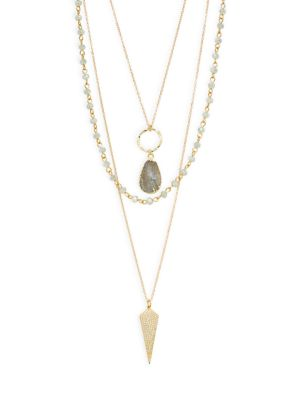 Panacea Crystal Beaded Layered Necklace