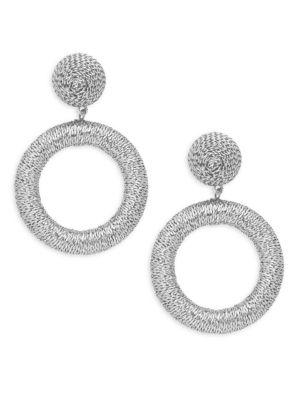 Panacea Geometric Textured Earrings