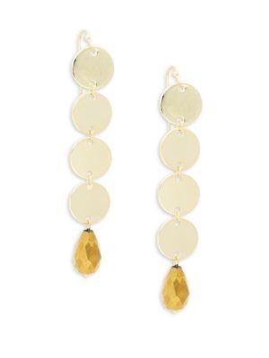 Panacea Crystal Linear Drop Earrings