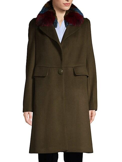 1 MADISON | Fox Fur-Trimmed Coat | Goxip