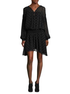 Joie Academia Printed Drop-Waist Dress